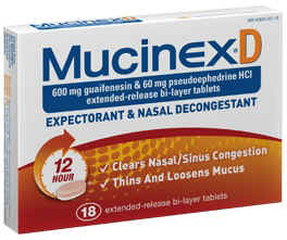 Mucinex-D ER Tablets 18 Count